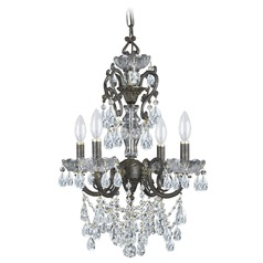 Crystorama Legacy 4-Light Crystal Chandelier in English Bronze