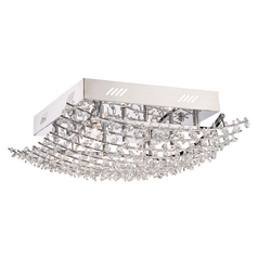 Quoizel Valla Polished Chrome Flushmount Light