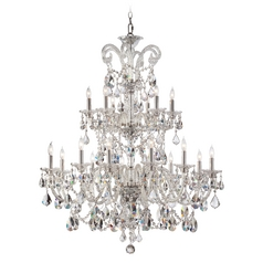 Quorum Lighting Bohemian Marien Chrome Crystal Chandelier