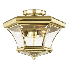 Livex Lighting Monterey Polished Brass Semi-Flushmount Light