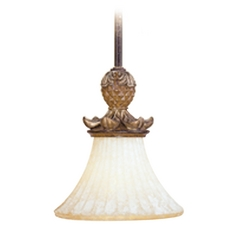 Livex Lighting Savannah Venetian Patina Mini-Pendant Light with Bell Shade