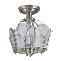 Norwell Lighting Legacy Brush Nickel Semi-Flushmount Light