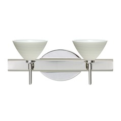 Besa Lighting Domi Chrome LED Bathroom Light