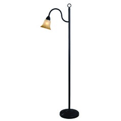 Hildene Oil Rubbed Bronze Floor Lamp with Fluted Shade by Kenroy Home
