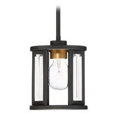 Nuvo Lighting Payne Black Mini-Pendant Light with Cylindrical Shade