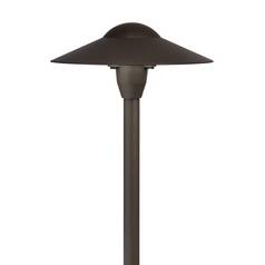 Kichler Modern Path Light with White Glass in Bronze Finish