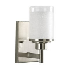 Progress Modern Sconce Wall Light with White Glass