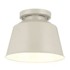 Feiss Lighting Freemont Hi Gloss Grey Flushmount Light