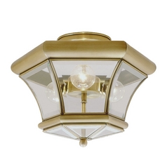 Livex Lighting Monterey Antique Brass Semi-Flushmount Light
