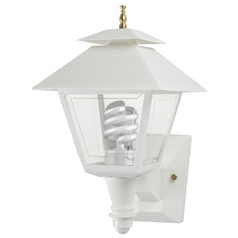 Wave Lighting Marlex Colonial White Outdoor Wall Light