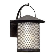 Seeded Glass LED Outdoor Wall Light Iron Troy Lighting