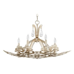 Quorum Lighting Charlton Aged Silver Leaf Chandelier
