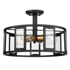 Nuvo Lighting Payne Black Semi-Flushmount Light