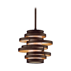 Modern Mini-Pendant Light with Beige / Cream Glass