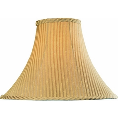 Beige Bell Lamp Shade with Spider Assembly