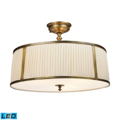 Elk Lighting Williamsport Vintage Brass Patina LED Semi-Flushmount Light