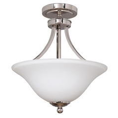 Craftmade Portia Polished Nickel Semi-Flushmount Light