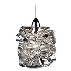 WAC Lighting Candy Chrome Mini-Pendant Light with Cylindrical Shade