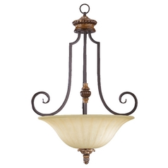 Quorum Lighting Capella Toasted Sienna with Golden Fawn Pendant Light