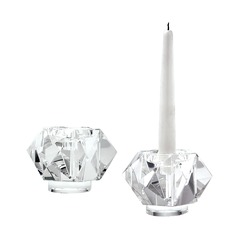 Faceted Star Crystal Candleholders - Smallall. Set of 2