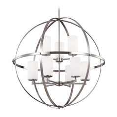 Sea Gull Lighting Alturas 2-Tier 9-Light Chandelier in Brushed Nickel