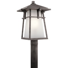 Kichler Lighting Beckett Weathered Zinc LED Post Light