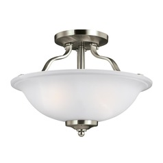 Sea Gull Lighting Emmons Brushed Nickel Semi-Flushmount Light