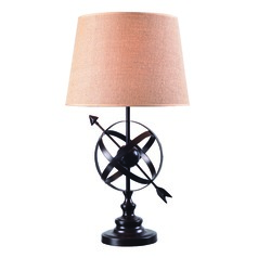 Armillary Golden Flecked Bronze Table Lamp with Empire Shade by Kenroy Home
