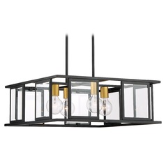 Nuvo Lighting Payne Black Pendant Light with Square Shade