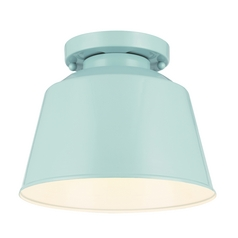 Feiss Lighting Freemont Hi Gloss Blue Flushmount Light