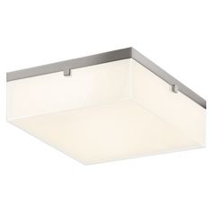 Sonneman Lighting Parallel Satin Nickel LED Flushmount Light