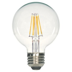 Satco Vintage Style Carbon Filament LED G25 Bulb Medium Base 2700K 120V 60-Watt Equiv Dimmable