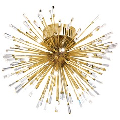 Mid-century modern Semi-Flushmount Light Gold Vivaldo by Eglo Lighting