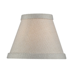 Cream Empire Lamp Shade with Clip-On Assembly