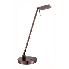 Modern LED Task / Reading Lamp in Chocoate Chrome Finish