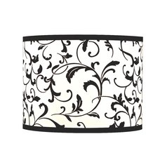 Black Drum Lamp Shade with Spider Assembly