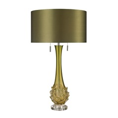 Dimond Lighting Green Table Lamp with Drum Shade