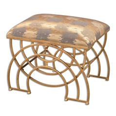 Uttermost Marcedes Gold Small Bench
