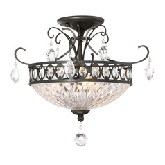 Quoizel Lighting Imperial Bronze Semi-Flushmount Light