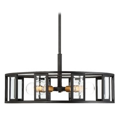 Nuvo Lighting Payne Black Pendant Light with Drum Shade