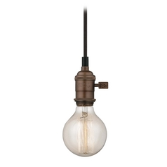 Design Classics Lighting Cloth Cord Mini-Pendant Light with Retro G25 Globe Bulb - 60-Watts CA1-220 60G25 FILAMENT