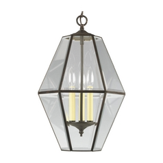 Progress Pendant Light with Clear Glass in Antique Bronze Finish