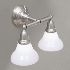 Norwell Lighting Coventry Brush Nickel Bathroom Light