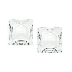 Dimpled Crystal Cubes - Smallall. Set Of 2