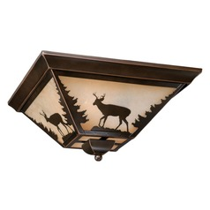 Bryce Burnished Bronze Flushmount Light by Vaxcel Lighting