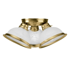 Livex Lighting Antique Brass Semi-Flushmount Light