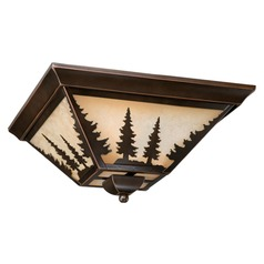 Yosemite Burnished Bronze Flushmount Light by Vaxcel Lighting