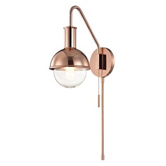 Mid-Century Modern Sconce Copper Mitzi Riley by Hudson Valley