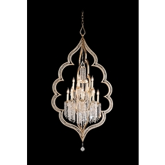 Corbett Lighting Bijoux Silver Leaf with Ant Island Light