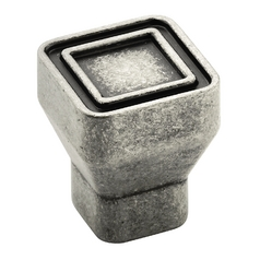 Aged Pewter Cabinet Knob